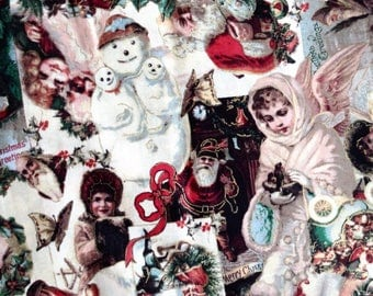 Victorian Christmas Cotton Fabric