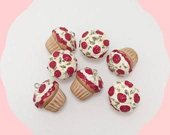 Pizza Cupcake Necklace