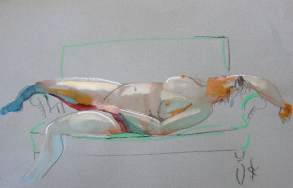 Nude painting- #1481 -original  by Gretchen Kelly