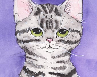 Silver Tabby Fine Art Print