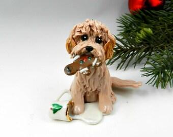 Labra Doodle Golden Doodle Christmas Ornament Santa's Cookie Porcelain