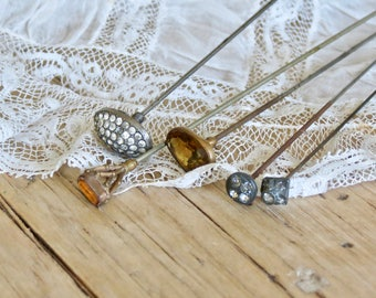 Shabby Chic Lovely Old Long Hat Pins