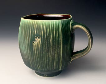 Square Mug - Dark Green