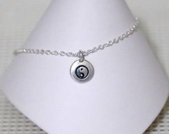 Anklet / Ankle Bracelet - Yin Yang - All Sizes - All Signs - Sterling SilverFilled Chain - TierraCast Charm