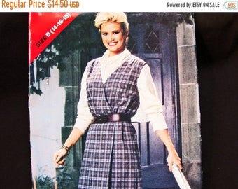 SALE 25% Off 1980s Jumper Wrap Dress Pattern Misses size 14 16 18 Bust 36 38 40 UNCUT Wrap Around Dress Jumper Vintage Sewing Pattern