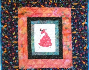 Festival Sale I Am Dancing In My Heart 25 x 27 inch art quilt
