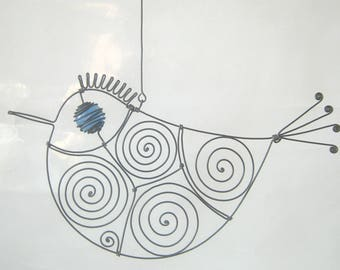 Wire Sculpture / Another Blue - Eyed Bird