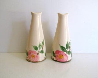 Franciscan Desert Rose Vintage Tall Salt and Pepper Shakers 1970's