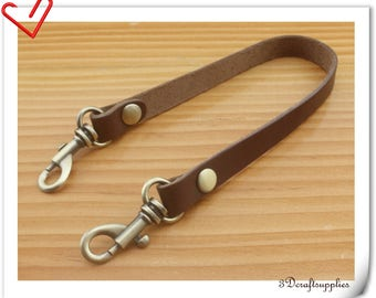 31cm Genuine  Leather wristlet  strap Wrist straps Handle with lobster clasp CF82E