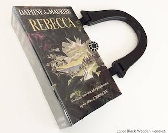 Rebecca Book Purse - Rebecca Recycled Book Clutch - Rebecca Book Cover Handbag - Daphne du Maurier Book Cover Pocketbook