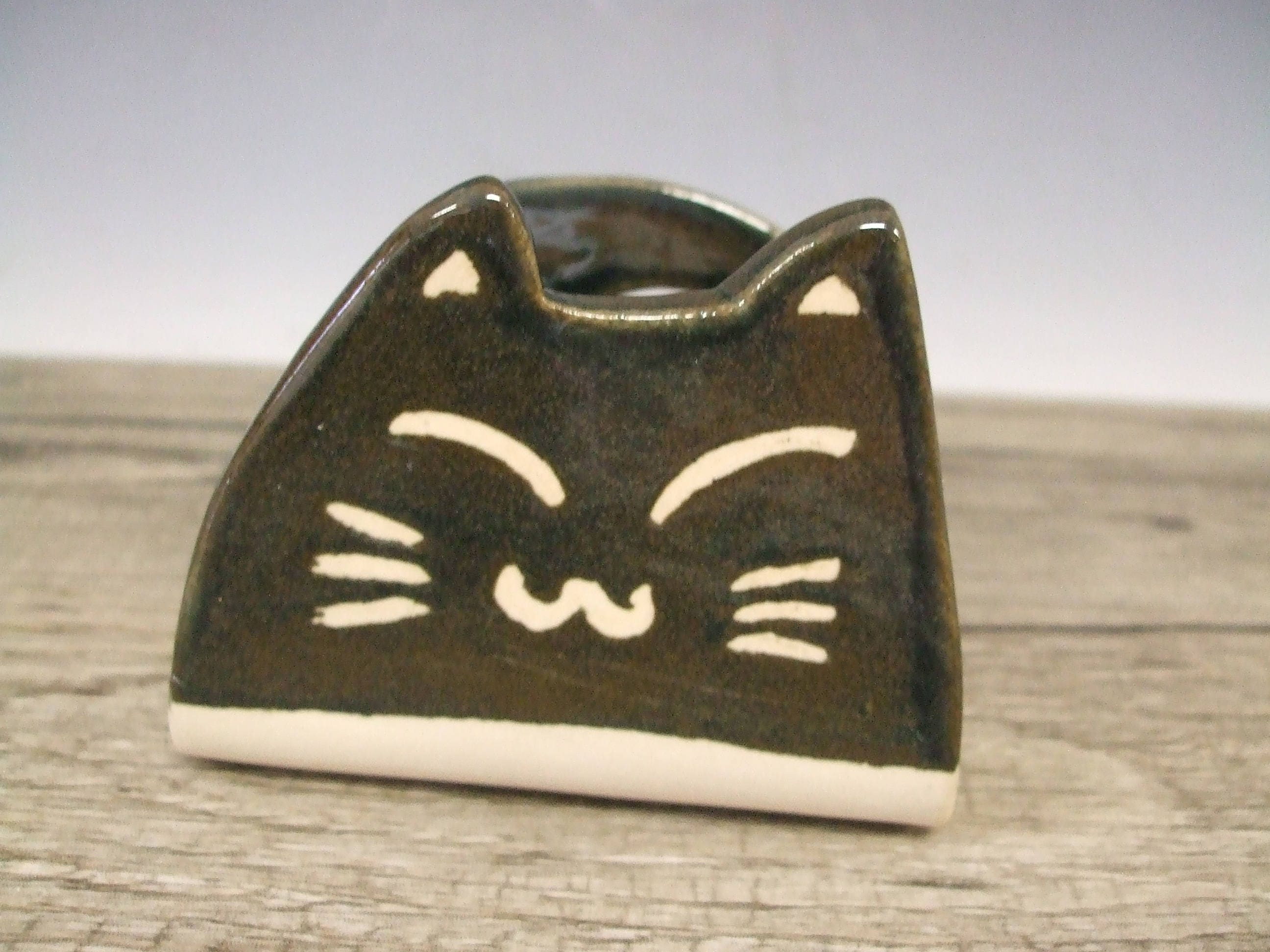 Super Cute Black Cat Business Card Holder by misunrie ...