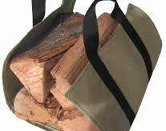 Firewood TOTE / log CARRIER 2 color choices and 3 FREE fire starters!