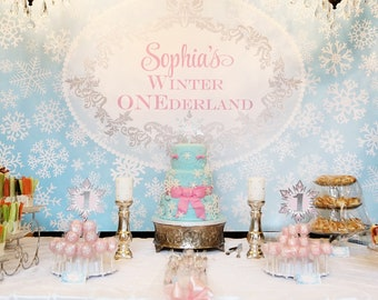 "ONEDERLAND Printable Party Backdrop 72"" x 39"" - you print"