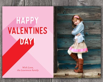 Valentine Flyout - Custom Digital or Printed Photo Valentine Greeting Card