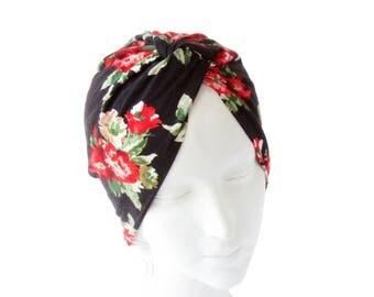 Women's Spring Accessory Chemo Turban Hat Floral Retro Accessory Hair Covering Head Scarf 1940s Hat Beach Fashion Spring Festival Fashion