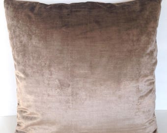 """18"""" x 18"""" Square Throw Pillow Cover Copper Gray Charcoal Velvet Decorative French Country Cottage Renaissance Bohemian Gypsy Shabby Chic"""