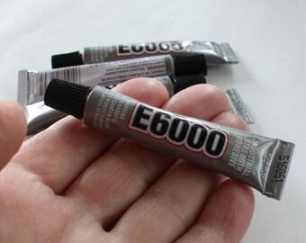 E-6000 Glue Tubes Mini, 2+ 0.18 Fl. Oz (5.3 mL), E6000 Craft & Jewelry Glue w/ Screw Cap