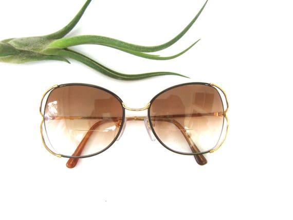 Vintage Eye Glasses Tinted eyeglasses with Gold Frames Bifocals Retro 1970s 1980s Eye Glasses