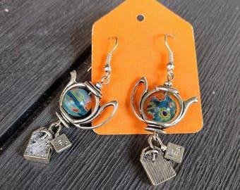 Spot of tea earrings
