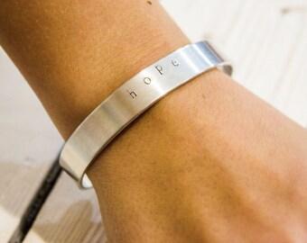 HOPE hand stamped bracelet