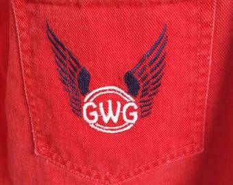 1970s Vintage Red GWG Jeans 27/28