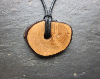 Rare Natural Wood Pendant - Wild Rose - Enhances Psychic Power.