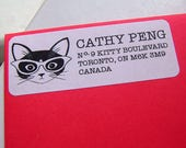 2 sets of 30 Clever Kitty Address Labels