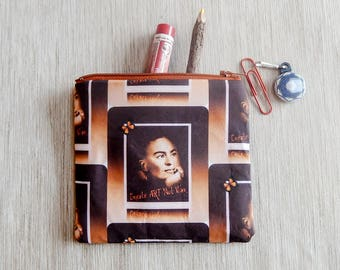 Frida Kahlo Gift for Women/ Make Up Bag/ Valentines Day Gift/ Gift for Mom/ Gift for Artist/ Gift for Her/ BFF Gift/ Girlfriend Gift/ Pouch