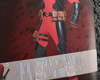 Simplicity 8236 A  Costume  Marvel Deadpool in sizes XS-XL (uncut)