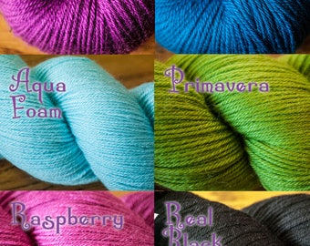 Cascade Heritage Silk Fingering Weight Silk/Wool Blend Yarn - With Free Crochet Shawl Pattern
