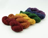 Dark Rainbow - Boundless SW Merino/Nylon Sock - Jewel Tones - Choose Your Yardage