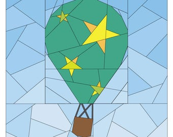 Hot Air Balloon Pattern - Rise Above Add-on: Stars  - Quilt Pattern - #262 PDF