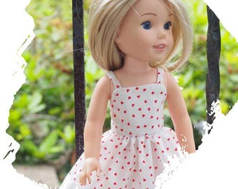 14 inch Doll Clothes  will fit Dolls like  Wellie Wishers - Sundress - Dress