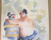 Original 15x15 Watercolor Commission
