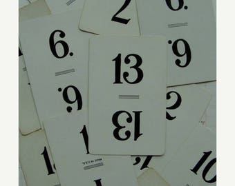 ONSALE Two Dozen Antique Numbers Playing Cards