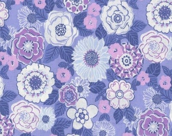 Claribel Periwinkle Cotton Fabric by the half yard