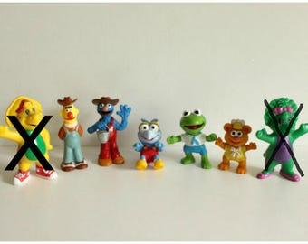 Sesame street baby muppets pvc cake topper,Burt & Elmo gardeners,Kermit The Frog,Gonzo,movie props,surprise bags,