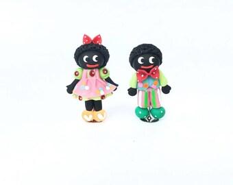 Tiny Raggedy Ann and Andy Doll/ Miniature Doll/ Dollhouse A