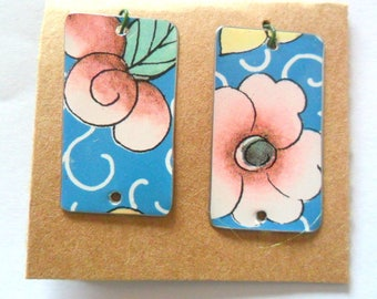 Upcycled Cookie Tin Earring Findings