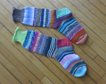Hand Knit Socks A Little Zebra