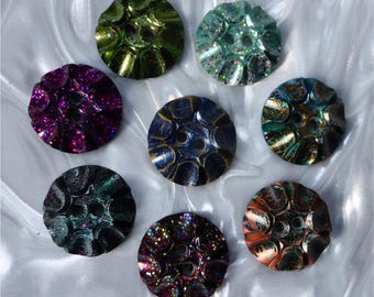 Handmade Resin Sewing Buttons - 8 different  unusual buttons (set med a_0118)