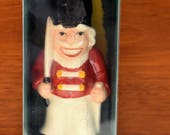 Vintage Goebel Christmas Holiday Nutcracker Soldier Ornament, 1981 4th Edition, Painted Porcelain, Signed, Mint in Orig Box, Perfect & Sweet