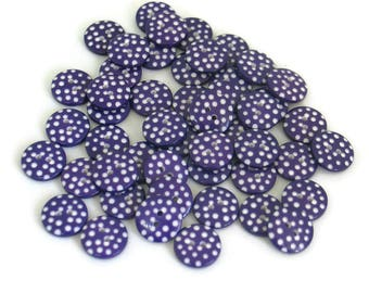Purple Polka Dot Buttons, Sewing Buttons, Craft Buttons, Purple and White Polka Dot Buttons, Halloween Buttons