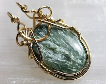 Seraphinite Pendant - Unique Original Jewelry Design by Philip Crow