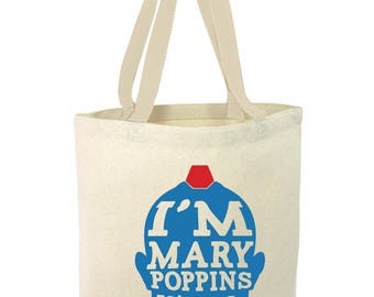 I'm Mary Poppins Yall, Yondu, GOTG, Guardians of the Galaxy, Tote, Hand Painted