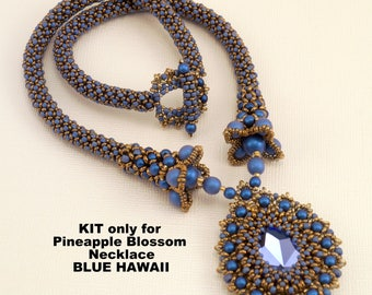 KIT for Pineapple Blossom Necklace in Blue HAWAII