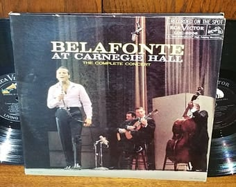 Harry Belafonte At Carnegie Hall Vintage Vinyl Double Album
