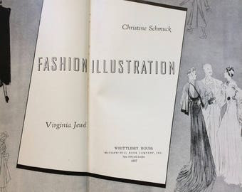 Vintage 1937 Fashion Illustration Instruction Book Drawing How-To Reference By Christine Schmuck Virginia Jewel