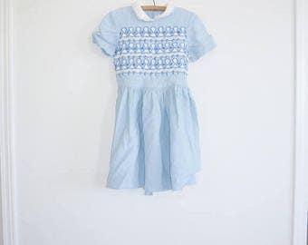 SALE // Vintage Blue Girl's Dress