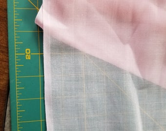 Vintage Sheer Cotton blend Voille type almost 2yd Pale Pink